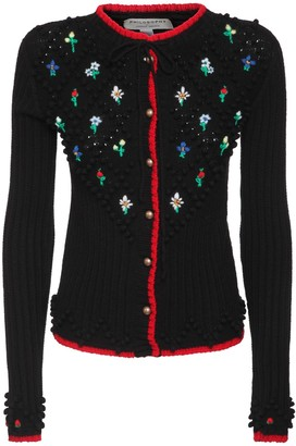 Philosophy di Lorenzo Serafini Embroidered Knit Wool Cardigan