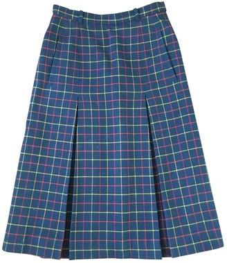 Aquascutum London Blue Wool Skirt for Women Vintage