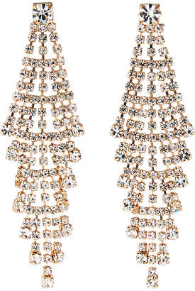Kenneth Jay Lane Crystal Chandelier Drop Earrings