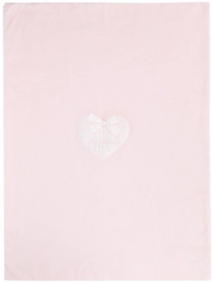 Miss Blumarine Embroidered Heart Velvet Nest
