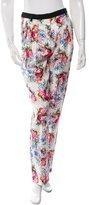 Ungaro Floral Print Silk Pants