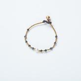 Apricot Pearl Detail Cord Bracelet