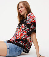 LOFT Petite Sunset Paisley Relaxed Top