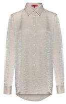 HUGO BOSS - Regular Fit Blouse In Shimmering Textured Fabric - Patterned