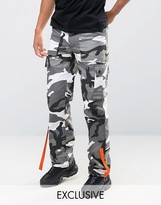 Reclaimed Vintage Camo Cargo Pants With Strapping