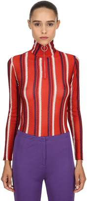 Marni Striped Viscose Knit Sweater