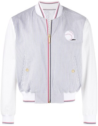 Thom Browne Ball Patch Embroidery Bomber Jacket