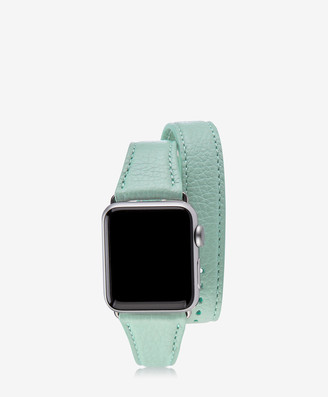 GiGi New York 38mm Double Wrap Apple Watch Band, Azure Pebble Grain