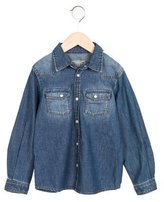 Bonpoint Boys' Denim Long Sleeve Shirt