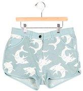 Stella McCartney Girls' Shark-Patterned Knit Shorts