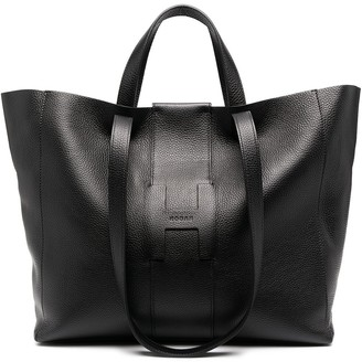 Hogan Oversized Leather Tote Bag