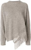 Stella McCartney fringe-trimmed jumper - women - Cashmere/Wool - 44