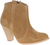 ASOS AGGIE Suede Pull On Casual Heel Ankle Boots