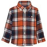 Tommy Hilfiger Orange Herringbone Check Shirt