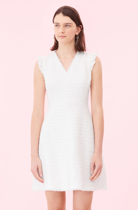 Rebecca Taylor Tweed V-Neck Dress