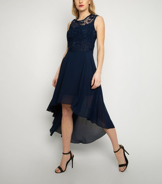 New Look Cutie London Lace Dip Hem Dress