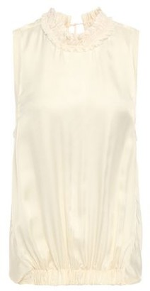 Ann Demeulemeester Tie-back Gathered Satin Top