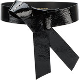 Dries Van Noten Patent asymmetric bow belt