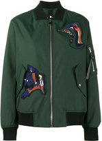 Proenza Schouler patch embellished bomber jacket - women - Cotton/Polyamide/Polyester/Viscose - 2
