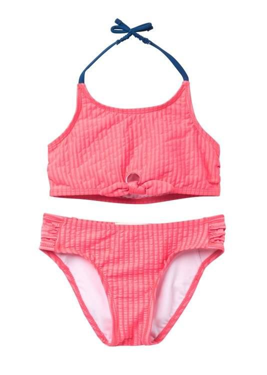 251fe67a4c1 Seersucker Tie Front Bikini (Little Girls)