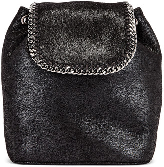 Stella McCartney Mini Shaggy Deer Backpack in Black | FWRD