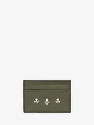 Alexander McQueen Skull and Stud Card Holder