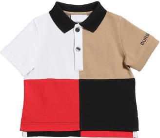 Burberry Boy's Mini Monty Colorblock Short-Sleeve Polo Shirt, Size 6M-2