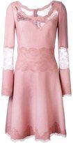 Ermanno Scervino lace trim dress - women - Silk/Polyamide/Viscose/Wool - 46