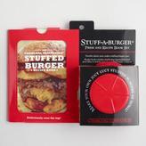 World Market Stuff a Burger Press and Recipe Book Kit