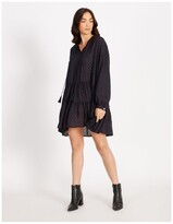 Thumbnail for your product : Only Gry Life Night Sky Long Sleeve Mini Dress