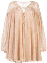 Shona Joy decorative-embroidered gathered shift dress
