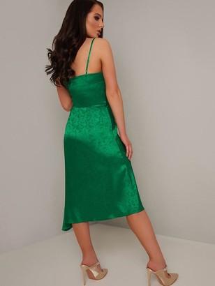 Chi Chi London X Helen FlanaganAlmira Cowl Neck Midi Dress - Green