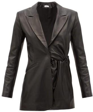 16Arlington Moriyo Gathered-leather Suit Jacket - Black