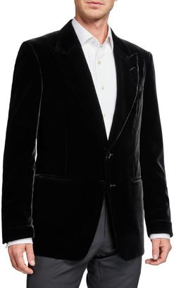 Tom Ford Men's Shelton Peak-Lapel Liquid Velvet Jacket