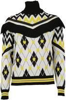 MSGM Ruffle Argyle Sweater