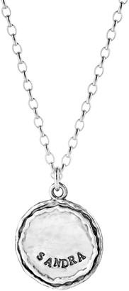 Or Paz Sterling Personalized Name Pendant