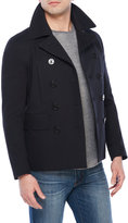 Sandro Storm Double-Breasted Peacoat