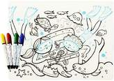 Modern Twist Kids Mark-Mat Silicone Coloring Placemat with 8 Dry-Erase Markers, Treasure Chest