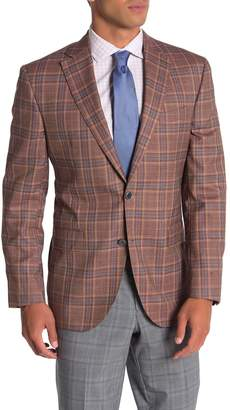 David Donahue Connor Rust Plaid Two Button Notch Lapel Wool Suit Separates Jacket
