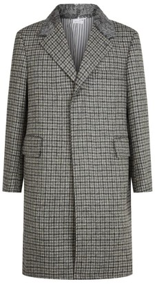 Thom Browne Fur-Trim Overcoat
