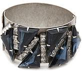 Elizabeth Cole Strider Triangle Bracelet, Silver, Blue 1 ea
