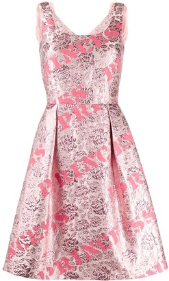 Moschino Printed Flared Dress