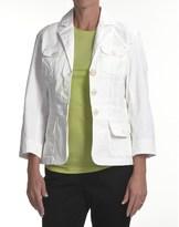 Zenim Rip Cotton Blazer (For Women)