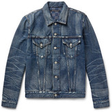 Fabric-Brand & Co Melik Slim-Fit Distressed Denim Jacket