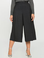 ELOQUII Plus Size Wool Blend Pleated Culotte
