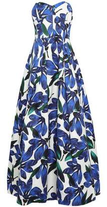 Milly Floral-print Cotton-blend Faille Gown