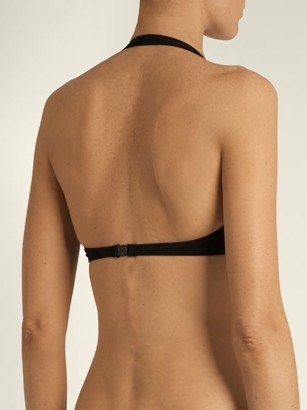 Norma Kamali Bill Bra Halterneck Bikini Top - Black
