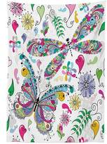 vipsung Country Decor Tablecloth Butterfly and Dragonfly Paisley Complex Structured Motifs with Diverse Ethnic Lines Art Image Rectangular Table Cover for Dining Room Kitchen Multi