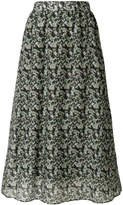 Manoush floral camouflage midi skirt