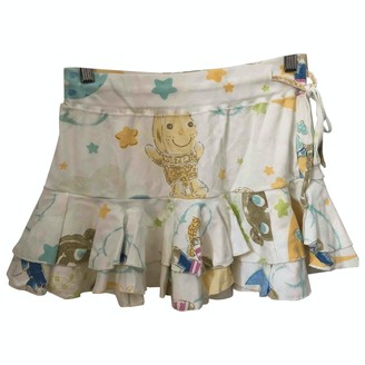 N. \n White Cotton Skirt for Women Vintage